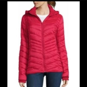 JCPENNY RED GOOSE DOWN PUFFER COAT